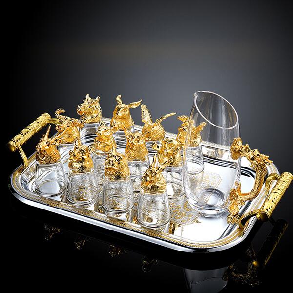 Bộ ly rượu 12 con giáp cao cấp tại Decopro.vn